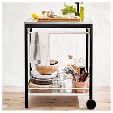Ikea Life Klasen Serving Cart Outdoor Stainless Steel Brown Stained Ikea