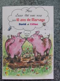 dix ans de mariage remerciement mariage 10 ans la carterie de céline
