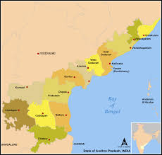 India State Map by List Of Districts In Andhra Pradesh Wikipedia