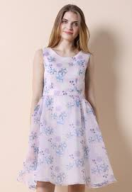 cherry blossom love organza dress retro indie and unique fashion