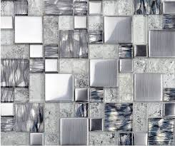 stainless steel mosaic tile backsplash metallic glass mosaic tile backsplash ssmt119 silver stainless