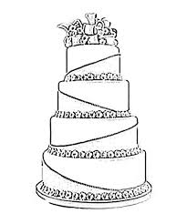 wedding cake outline wedding cake coloring page for drawing 1 kimmiebee clip