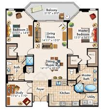 2 Bedroom Condo Floor Plan 3 Bedroom With Den Floor Plan U2013 Home Plans Ideas