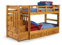 Solid Wood Bunk Beds With Stairs Foter - Oak bunk beds for kids