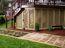adding lattice to the bottom of a deck outdoor spaces hgtv and