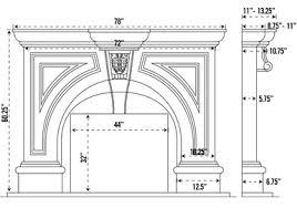 Standard Fireplace Dimensions by Atlanta Cast Stone Fireplace Mantel Stone Mantle Mantels