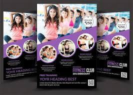 fitness flyer template 23 fitness flyer templates free premium