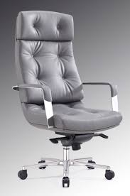 leather executive high back office chair with lumbar support