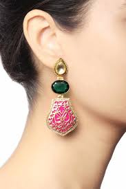 Buy Kundan Embellished Dangler Earrings Ethnic Earrings Online Buy Designer Earrings At Jivaana