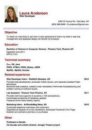 internship sample cv curriculum vitae creative writing