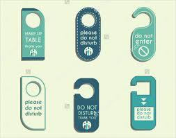 hotel door hanger template 20 creative door hanger designs free premium templates
