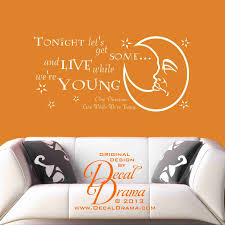 wall decals lyrics color the walls of your house wall decals lyrics vinyl wall decal one direction tonight lets get by decaldrama