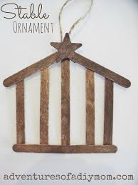 how to make a stable ornament nativity ornament series