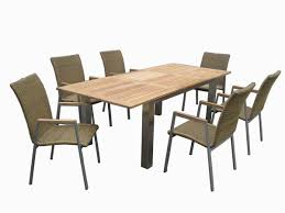 furniture stainless steel farme dining table set outdoor modern