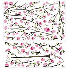 pink blossom tree peel and stick giant wall decals walmart com