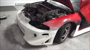 modified mitsubishi eclipse gsx 97 eclipse gsx demo car built update part 3 blitz body kit on