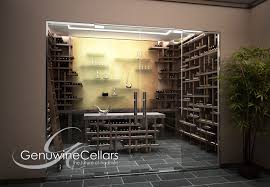 contemporary wine cellar the cube by genuwine cellars