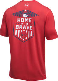 under armour men u0027s home of the brave t shirt u0027s sporting goods