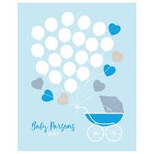 pram personalised baby shower guest book print by bird u0026 key