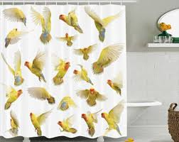 Bird Shower Curtains Bird Shower Curtain Etsy
