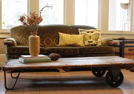 inspirational rustic coffee table with wheels for living room