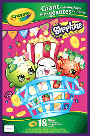 crayola giant coloring pages shopkins jet com