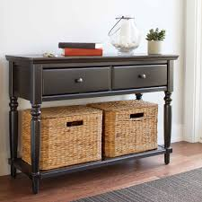 black sofa table with drawers console table design console table with baskets design console