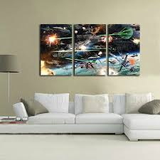Bedroom No Wall Space Aliexpress Com Buy Star Wars Space Battle Poster Print American