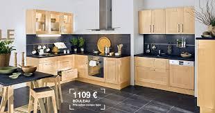 lapeyre cuisine bistrot lapeyre cuisine origine en bouleau massif prix 1109