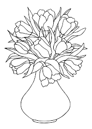 vase coloring pages getcoloringpages com