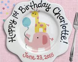 personalized birthday plate pink birthday plate personalized birthday gift pink