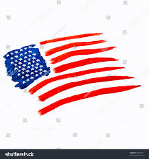 Independence Flag American Flag Independence Day Drawing Watercolor Stock Foto