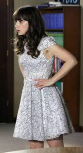zooey deschanel new girl fashion wwzdw what would zooey deschanel s white metallic lace dress on new girl wwzdw