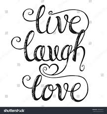 live laugh love hand lettering quote stock vector 398246599