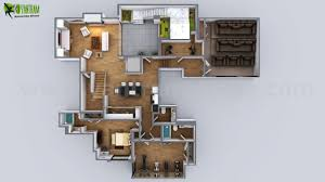 artstation 3d floorplan of modern house by yantram floor plan