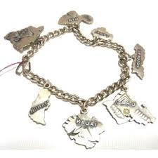 sterling charm bracelet chain images Vintage sterling silver hawaii hawaiian islands charm bracelet out=j