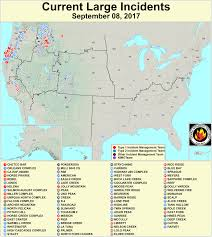 Wildfire Map America by While Hurricanes Batter The South The West Is On Fire Huffpost