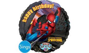 singing birthday balloons singing happy birthday spider balloon party city canada