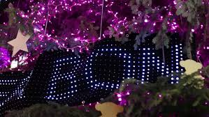 high pink led light tree decorations on