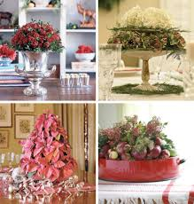 Small Table Christmas Decoration by Dining Room Set Examples With Christmas Centerpieces For Your