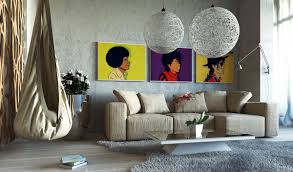 living room concrete living room features michael pop art