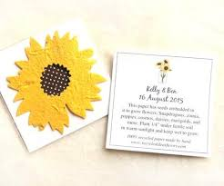 seed paper favors 10 plantable seed paper sunflowers wedding favors custom cards