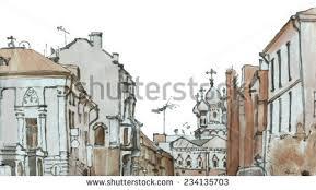 marker city sketch stock illustration 226272859 shutterstock