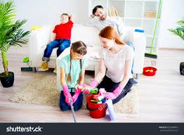 family cleaning house stock photo 632900834 shutterstock