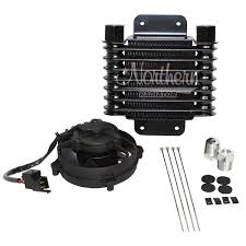 oil cooler with fan northern radiator 6 3 8 x 6 3 4 oil cooler kit with 4 fan