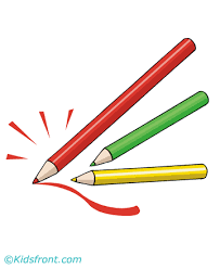 pencil coloring pages for kids to color and print