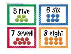 free printable number flashcards 1 20 subitizing cards math kindergarten math and kindergarten