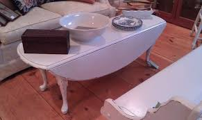 Drop Leaf Coffee Table White Painted Shabby Chic Drop Leaf Coffee Table Simply Vintage