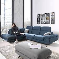canape angle bleu canapé une méridienne en tissu sofamobili