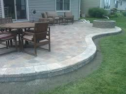 small house patio stone brick pavers arbor canton patios